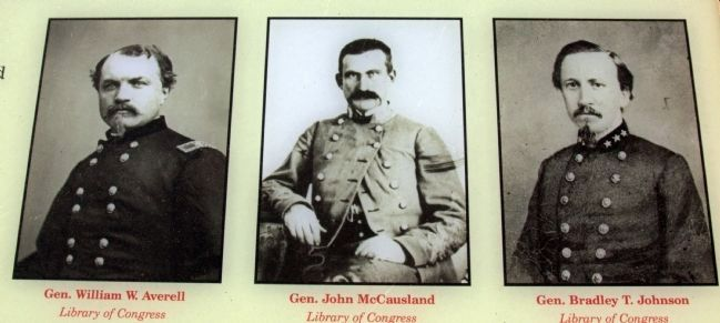 Generals Averell, McCAusland, and Johnson image. Click for full size.