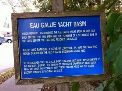 Eau Gallie Yacht Basin Marker image. Click for full size.