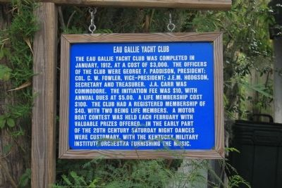 Eau Gallie Yacht Club Marker image. Click for full size.