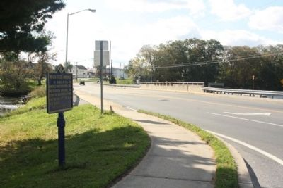 Indian River Hundred Marker, looking south along John J. Williams Highway image. Click for full size.