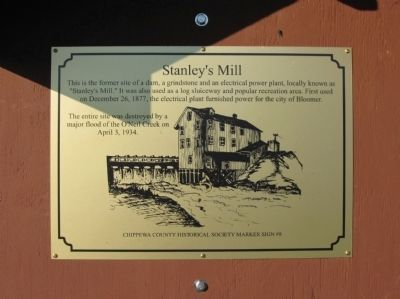 Stanley's Mill Marker image. Click for full size.