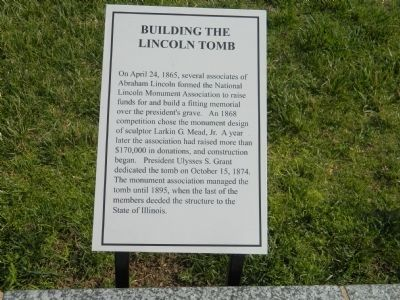 Building the Lincoln Tomb Marker image. Click for full size.