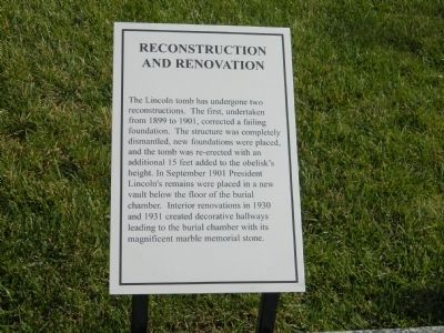 Reconstruction and Renovation Marker image. Click for full size.