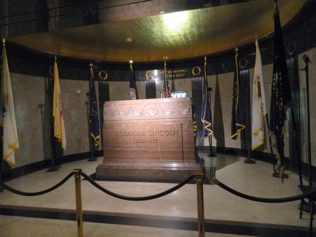 Lincoln's Marble Tomb image. Click for full size.