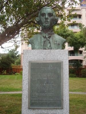 Juan Francisco de la Bodega y Quadra Marker and Bust image. Click for full size.