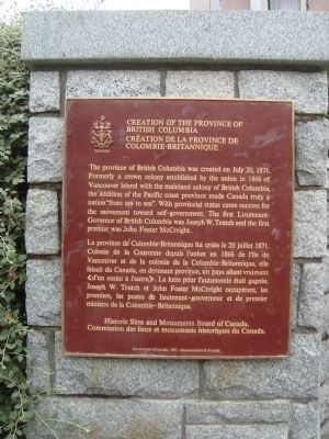 Creation of the Province of British Columbia Marker image. Click for full size.