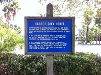 Harbor City Hotel Marker image. Click for full size.
