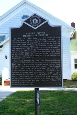 Asbury United Methodist Church Marker image. Click for full size.