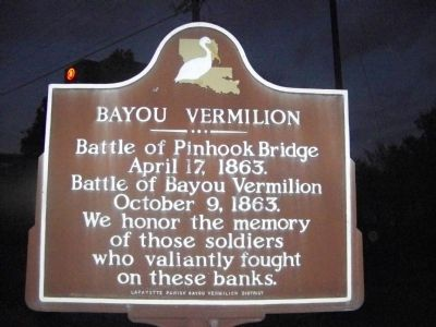 Bayou Vermilion Marker image. Click for full size.