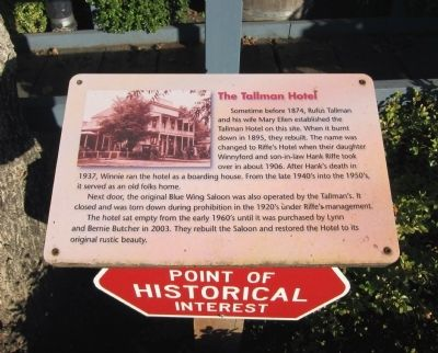 The Tallman Hotel Marker Photo, Click for full size