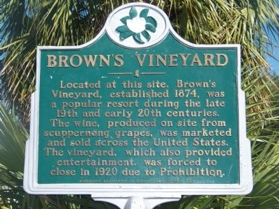 Brown's Vineyard Marker image. Click for full size.