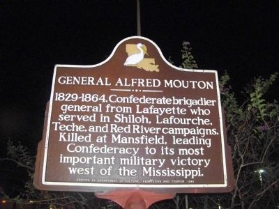 General Alfred Mouton Marker image. Click for full size.