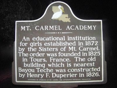 Mt. Carmel Academy Marker image. Click for full size.