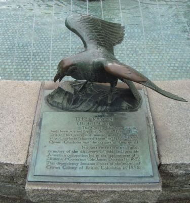 The Victoria Centennial Fountain Marker - The Raven image. Click for full size.