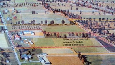 "James A. Garfield's ""Lawnfield"" on Marker image. Click for full size."