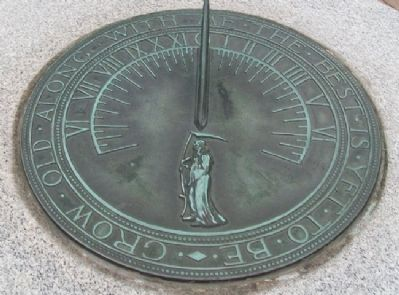 Sundial on Lawnfield Marker image. Click for full size.
