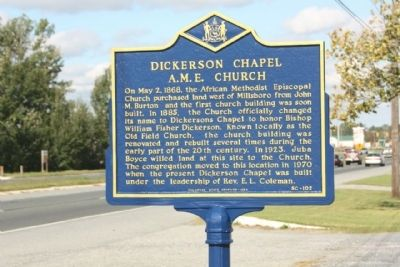 Dickerson Chapel A.M.E. Church Marker image. Click for full size.