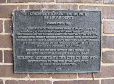 Chicago, Milwaukee & St. Paul Railroad Depot Marker image. Click for full size.