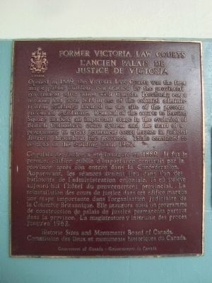 Former Victoria Law Courts Marker image. Click for full size.