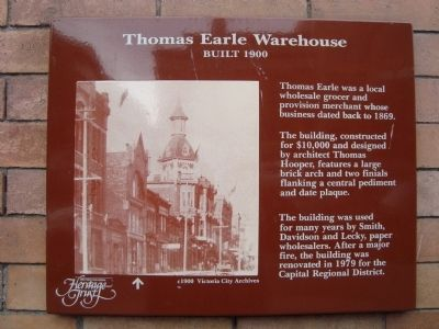 Thomas Earle Warehouse Marker image. Click for full size.