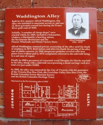 Waddington Alley Marker image. Click for full size.