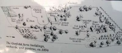 Map on Garfield's Farm Marker image. Click for full size.