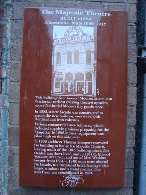 The Majestic Theatre Marker image. Click for full size.