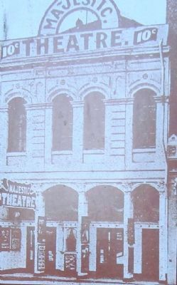 Detail from the Majestic Theatre Marker image. Click for full size.