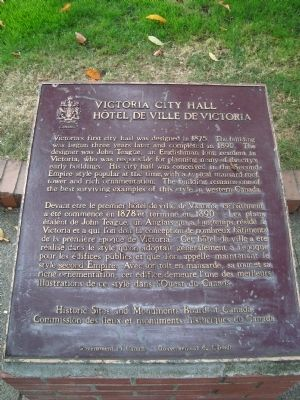 Victoria City Hall Marker image. Click for full size.