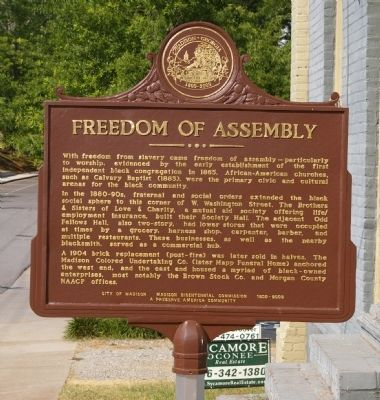 Freedom of Assembly Marker image. Click for full size.