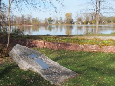 Bradley Crandall Sawmill Marker and Little Lake image. Click for full size.