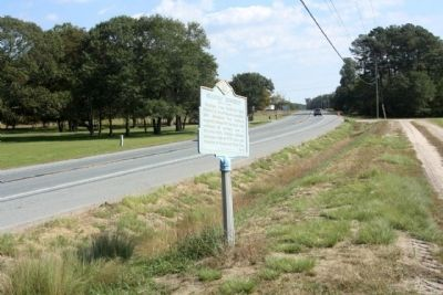 Seaford Hundred Marker eastbound along Georgetown-Bridgeville Road image. Click for full size.
