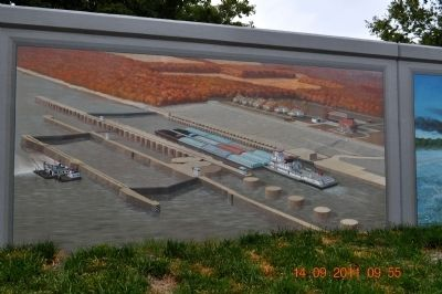 Lock and Dam 52 Marker image. Click for full size.