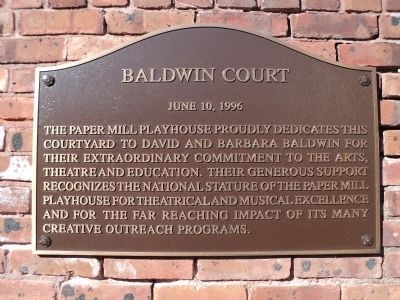Baldwin Court Marker image. Click for full size.