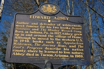 Edward Abbey Marker image. Click for full size.