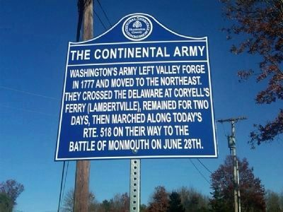 The Continental Army Marker image. Click for full size.
