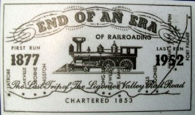 Last Run Ticket on Road versus Rail Marker image. Click for full size.