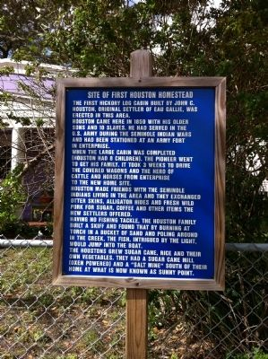 Site of First Houston Homestead Marker image. Click for full size.
