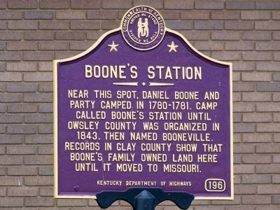 Boone's Station Marker image. Click for full size.