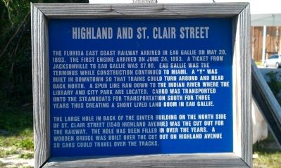 Highland and St. Clair Street Marker image. Click for full size.