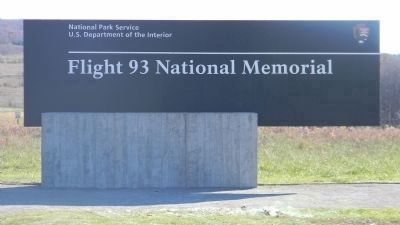 Flight 93 National Memorial - signage, on Sauffler Road at the entrance off Lincoln Highway image. Click for full size.