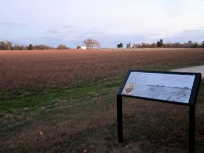 Union gun positions and the West House in the distance. image. Click for full size.