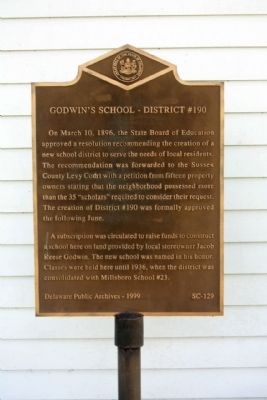 Godwin's School - District #190 Marker image. Click for full size.