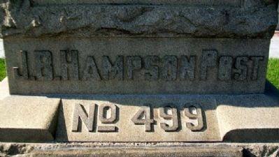 Hampson Post No. 499 G.A.R.on Civil War Memorial image. Click for full size.