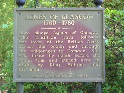 Agnes of Glasgow 1760 ~ 1780 Marker image. Click for full size.
