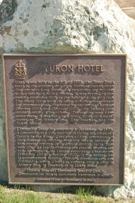 Yukon Hotel Marker image. Click for full size.