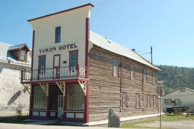 Yukon Hotel and Marker image. Click for full size.