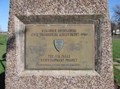Wisconsin Outstanding Civil Engineering Achievement Plaque image. Click for full size.