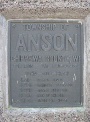 Township of Anson Plaque image. Click for full size.