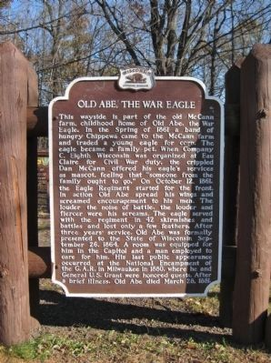 Old Abe, the War Eagle Marker image. Click for full size.